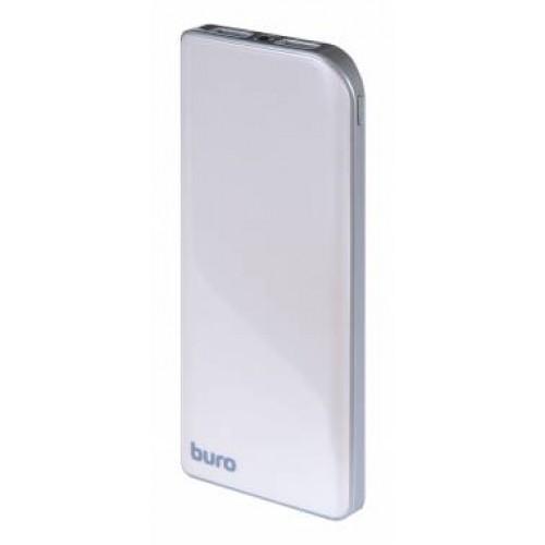 Мобильный аккумулятор Buro RA-8000 Li-Pol 8000mAh 2.1A+1A серебристый 2xUSB