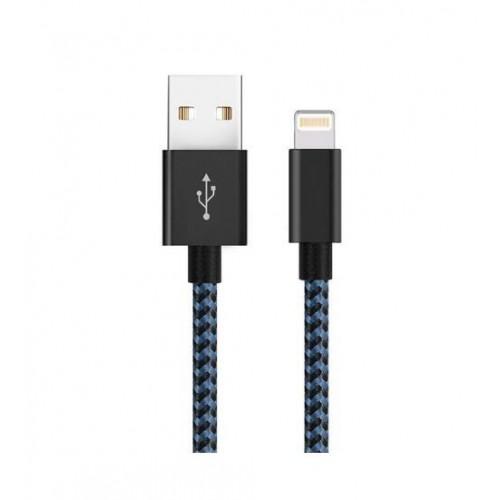 Кабель USB-Apple SUNTAIHO PTAG99-1m-BL  для  iPhone 5/6 LIGHTNING плоский