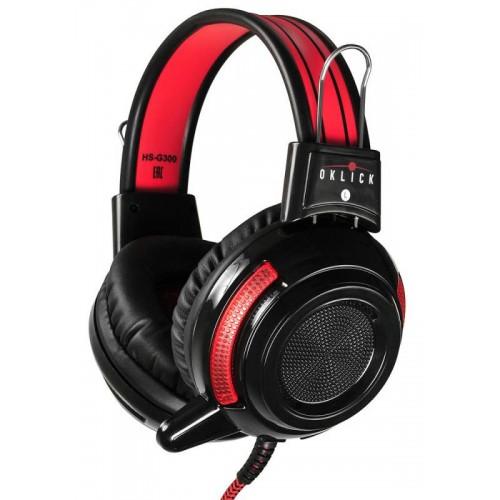 Наушники Oklick HS-G300 ARMAGEDDON черный/красный 2.5м мониторы (AH-V1)