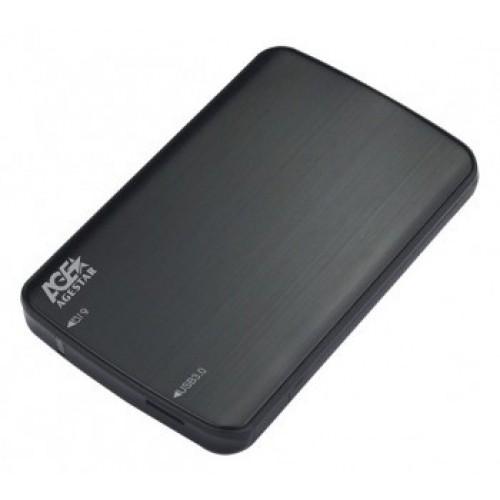 Мобильное шасси AgeStar 3UB2A12 SATA пластик/алюминий черный 2.5