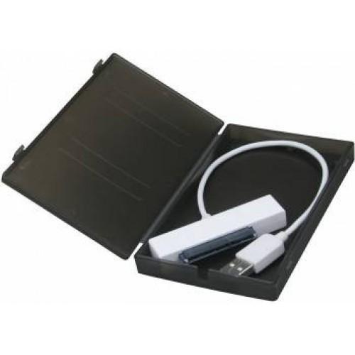 Мобильное шасси AgeStar SUBCP1 HDD/SSD SATA пластик черный 2.5