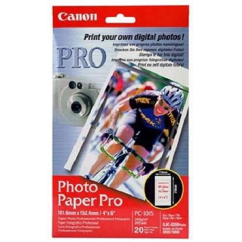 Бумага Canon профессиональная глянцевая фотобумага с перфорацией, 10x15 см, 20 листов, 245 г/м2 (569