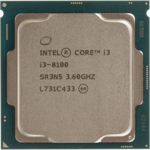 Процессор Intel LGA1151v2 i3 8100 (3.6GHz/HDG630) BOX