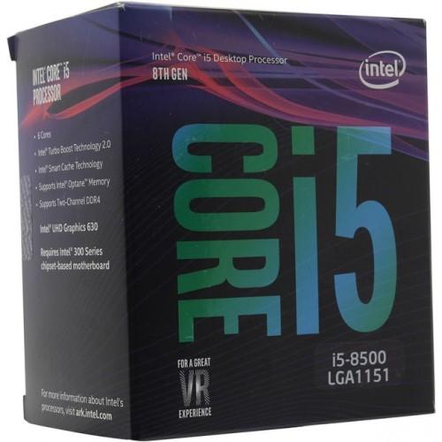 Процессор Intel LGA1151v2 i5 8500 (3GHz, Intel UHD Graphics 630) BOX