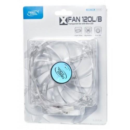 Вентилятор в корпус 120х120 Deepcool XFAN 120L/B 120x120x25 3-pin 4-pin (Molex)26dB 118gr LED Ret