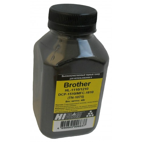Тонер Brother HL-1110/1210/DCP-1510/MFC-1810 Hi-Black (TN-1075), Bk, 40 г, банка