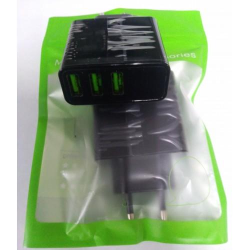Зарядное уст-во KLSIN-LDE-G517 3 USB  с измерением напряжения