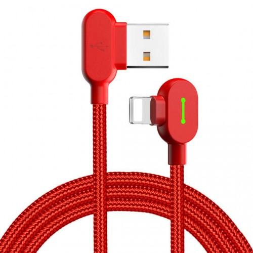 Кабель USB-Apple Mcdodo red для  iPhone 5/6 плоский
