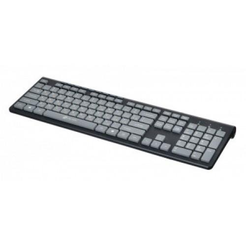 Клавиатура Oklick 480M черный/серый USB slim Multimedia
