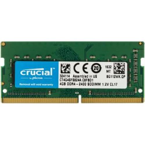 ОЗУ 4Gb SO-DIMM DDR4 2400MHz PC4-19200 Crucial