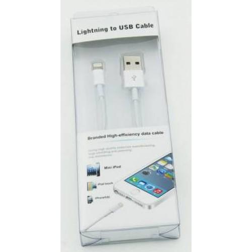 Кабель USB-Apple BEHPEX A(m) Lightning (m) 1.2м белый iPhone 5/6