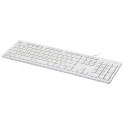 Клавиатура Oklick 500M белый USB slim Multimedia