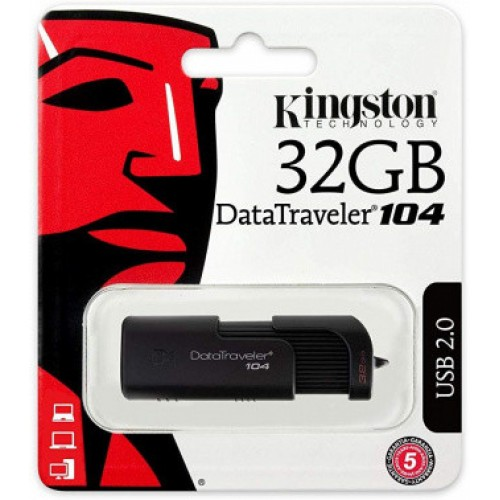 Память Flash USB 32ГБ Kingston DataTraveler 104 DT104/32GB USB2.0 черный