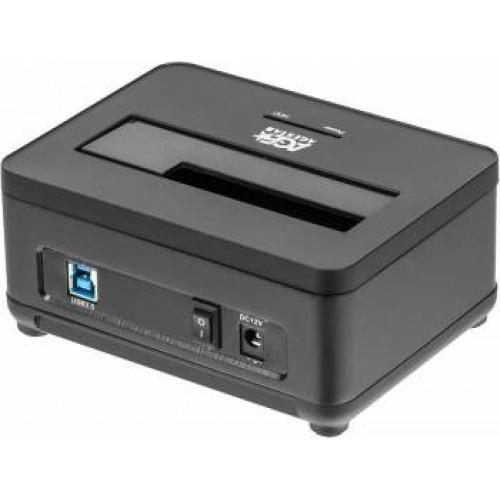 Док станция для HDD AgeStar 3UBT7 SATA III пластик/алюминий черный 2.5