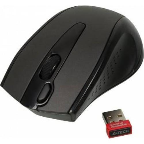 Мышь A4 G9-500FS черный оптическая (1000dpi) silent беспроводная USB1.1 (3but)