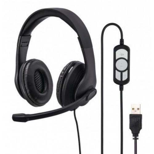 Наушники Hama H-139924 HS-USB300 черный 2м мониторы