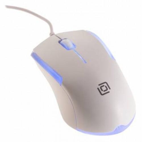 Мышь Oklick 245M белый оптическая (1000dpi) USB (3but)