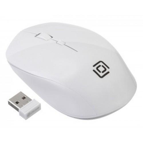 Мышь Oklick 565MW glossy белый оптическая (1600dpi) беспроводная USB (3but)