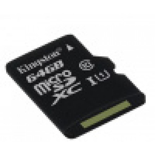 Память Flash Card64ГБ SD-micro Kingston Class10 SDCS/64GBSP w/o adapter