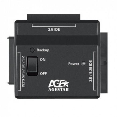 Мобильное шасси AgeStar FUBCP2 IDE SATA пластик черный 2.5