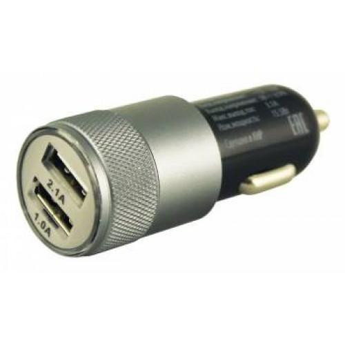 Автомобильное зарядное ус-во Buro TJ-189 2.1A+1A универсальное черный