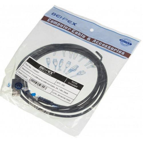 Кабель USB Type C BEHPEX Type-C (m) USB A(m) 1.8м черный (1164507 )