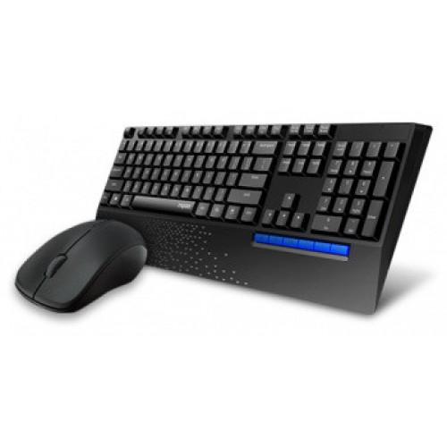 Клавиатура Rapoo X1960 клав:черный мышь:черный USB беспроводная