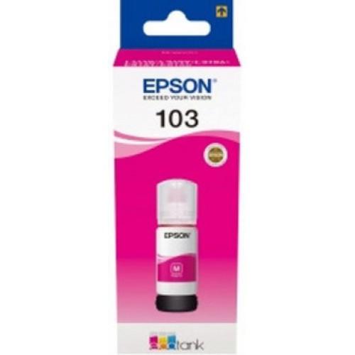 Чернила EPSON для L3100 (65 мл) 103M пурпурные [C13T00S34A]