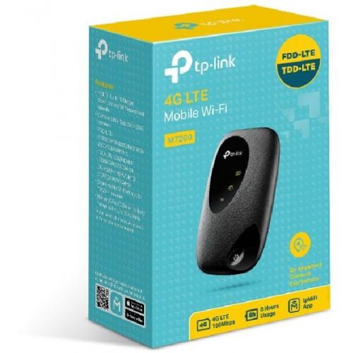 Модем TP-Link M7200 micro USB Wi-Fi +Router 2G/3G/4G внешний черный