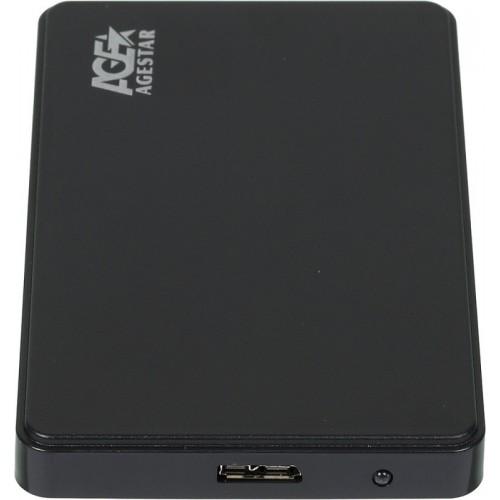 Мобильное шасси AgeStar 3UB2P2 SATA III пластик черный 2.5