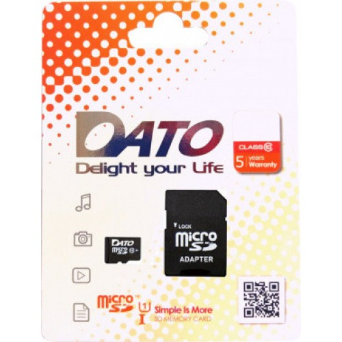 Память Flash Card64ГБ SD-micro Dato Class10 DTTF064GUIC10 w/o adapter