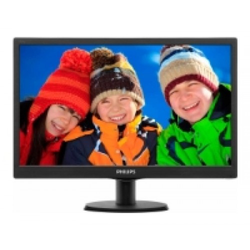 Монитор Philips 193V5LSB2 Glossy-Black TN LED 5ms 16:9 10M:1 200cd  18.5