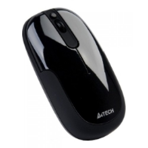 Мышь A4 G9-110H-1 Glossy Black Holeless Wireless USB