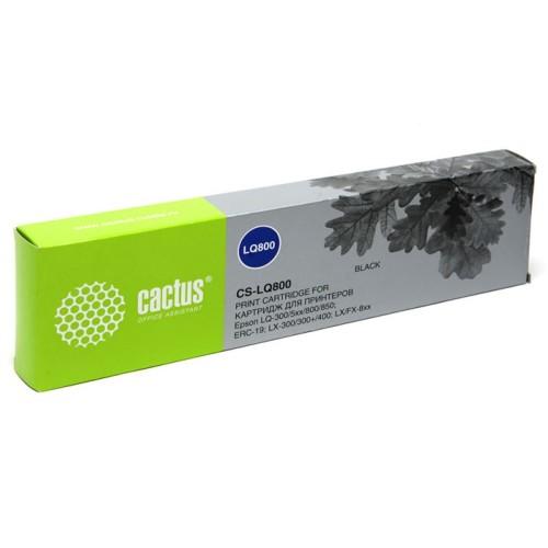 Картридж CACTUS CS-LQ800 Cactus черный для Epson LQ-300/5xx/800/850/ERC-19/LX-300/300+/400/FX-8xx